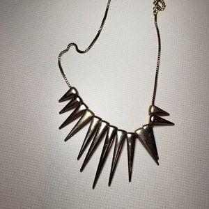 Gold triangular statement necklace